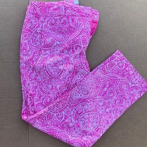 Women's Charter Club Pants Shop Pink Paisley Pants